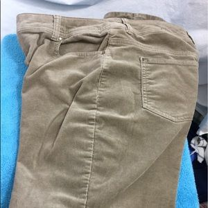 Chico Beige Corduroy Skinny Mid-rise Size 1
